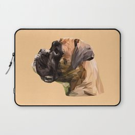 Boxer dog low poly. Laptop Sleeve