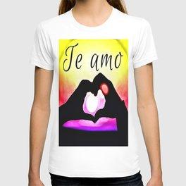 Te amo in Pop-art T-shirt