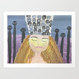 waste thoughts Art Print