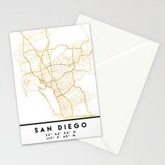 SAN DIEGO CALIFORNIA CITY STREET MAP ART Stationery Cards