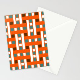 Cross Stitch Quilt Latter Design Chutes Weave Stationery Cards