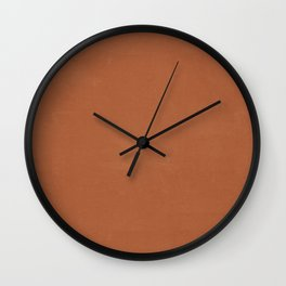 Plain Terracotta with Soft Relaxing Texture Wall Clock