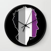 asexual Wall Clocks featuring Asexual Love by Winter Graphics