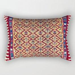 Kurdish  Azerbaijan Long Antique Persian Rug Rectangular Pillow