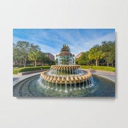The Pineapple Fountain 02 Metal Print