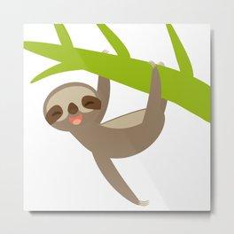 funny sloth Metal Print