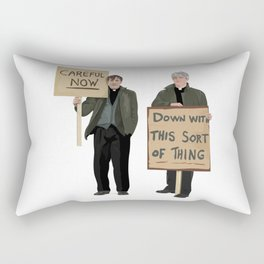 """DOWN WITH THIS SORT OF THING!..careful now"" Rectangular Pillow"