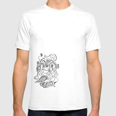 Flora White MEDIUM Mens Fitted Tee