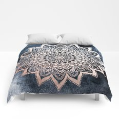 BLUE BOHO NIGHTS MANDALA Comforters