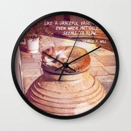 VASE CAT Wall Clock