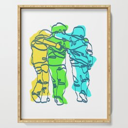 Friends Line Art Serving Tray