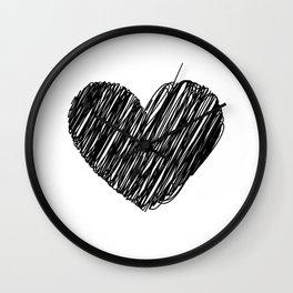 Darken Heart Wall Clock