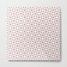 pink and grey pattern Metal Print
