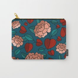 Flowers with Heart Leaves Carry-All Pouch