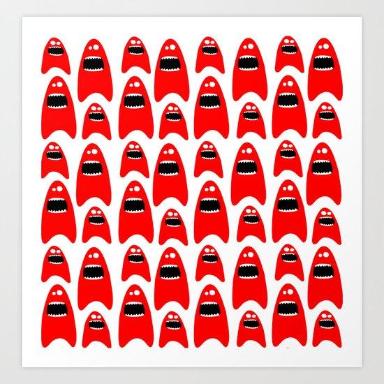 red monsters Art Print