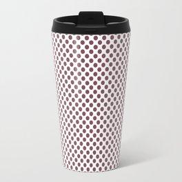 Crushed Berry Polka Dots Travel Mug