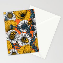 The meadow in yellow and orange Stationery Cards