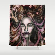 The Secret Blossoming Shower Curtain