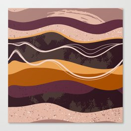 Abstract waves hand drawn illustration pattern Canvas Print