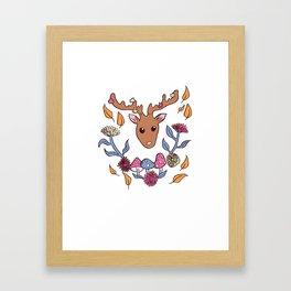 Deer nature Framed Art Print