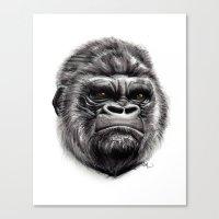 gorilla Canvas Prints featuring Gorilla by Creadoorm