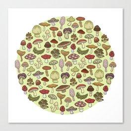 Mushroom Circle Canvas Print
