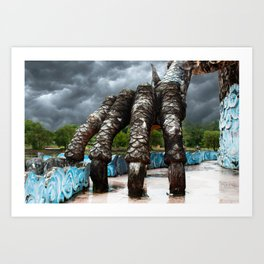 Claw: Abandoned Waterpark Dragon Art Print