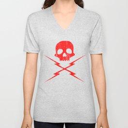 Skull And Bolts Vintage Unisex V-Neck