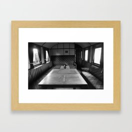 Old train compartment 4 Framed Art Print