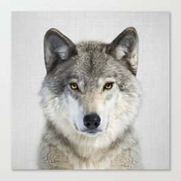 Wolf 2 - Colorful Canvas Print