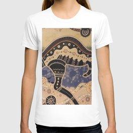 Kangaroo mural T-shirt