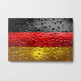 Flag of Germany - Raindrops Metal Print