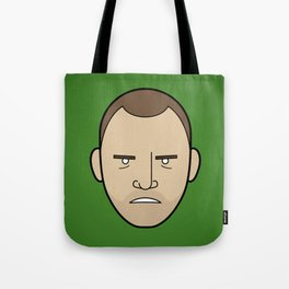 Faces of Breaking Bad: Jesse Pinkman (Angry) Tote Bag