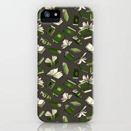 Spellbooks, green iPhone Case