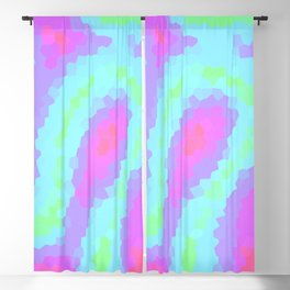 Pretty Pastel Wiggly Geometric Design! Blackout Curtain