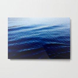 Gradient Blue Ocean Metal Print