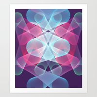psychedelic art Art Prints featuring Psychedelic by Scar Design