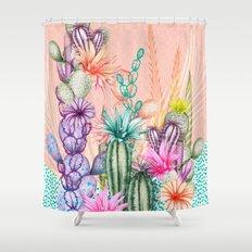 Cacti Love Shower Curtain
