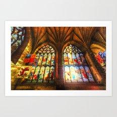 Cathedral Stained Glass Window Art Print
