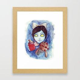 Bioshock - Little sister watercolor Framed Art Print