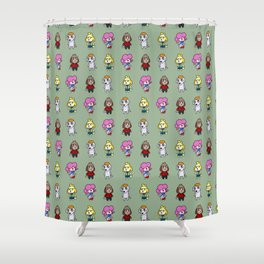 Animal Crossing Design 6 Shower Curtain