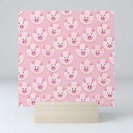 piggy pattern Mini Art Print