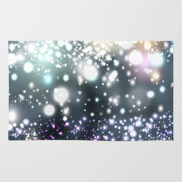 Christmas pattern with snowflakes and lights Rug