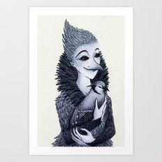 Blue Jayne Art Print
