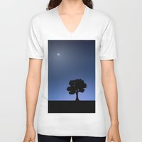 night sky V-neck T-shirts featuring Night Sky by Nate Raia