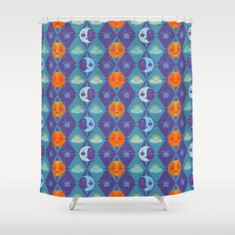 The sun, the moon and the stars Shower Curtain