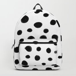 Black and White Brush Dots Backpack