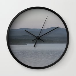 Wilderness lake in the mountains Wall Clock
