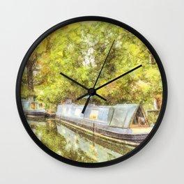 Little Venice London Autumn Art Wall Clock