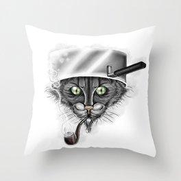 Xavier the Cat Throw Pillow